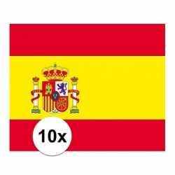 10x stuks vlag spanje stickers