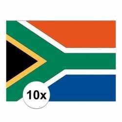 10x stuks vlag zuid afrika stickers