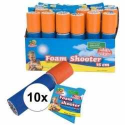10x stuks waterpistolen van foam 15