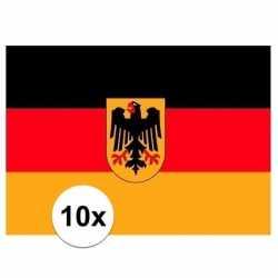 10x vlag duitsland stickers