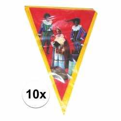 10x vlaggenlijn sinterklaas sint piet 5 meter