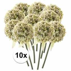 10x witte sierui kunstbloemen 70