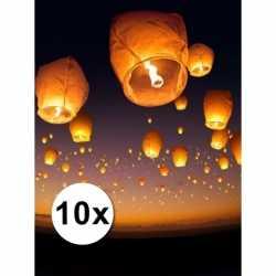 10x witte wensballonnen 50 bij 100