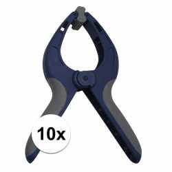 10x zeilklem / zeilclip van kunststof 9 inch