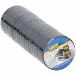 10x zwart isolatie tape 18 mm bij 10 meter