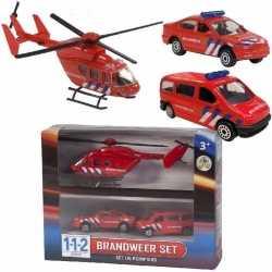 112 brandweer speelvoertuigen 3 delig