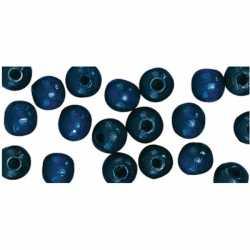115 stuks donkerblauwe kralen 6 mm