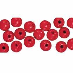 115 stuks rode kralen 6 mm