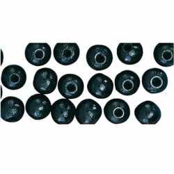 115 stuks zwarte kralen 6 mm