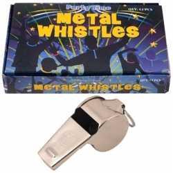 12 bij metalen scheidsrechter fluitjes