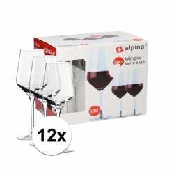 12 stuks wijnglazen rode wijn 530 ml