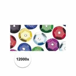 12000x pailletten gekleurd 6 mm