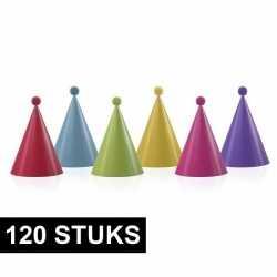 120x feesthoedjes pompoms