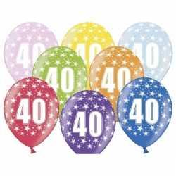 12x ballonnen 40 jaar sterretjes versiering