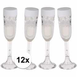 12x bellenblaas champagne glas