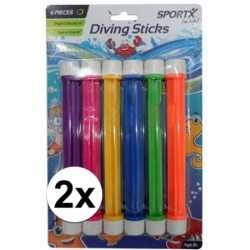12x gekleurde duikstaafjes