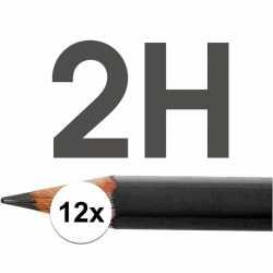 12x hb potloden volwassenen hardheid 2h