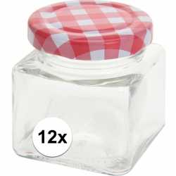 12x inmaak/weckpotten 75 ml draaideksel