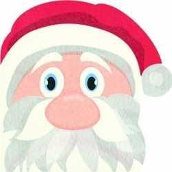 12x kerstman vorm kerst servetten 33 bij 33