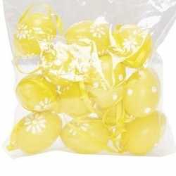 12x pasen decoratie paaseieren geel 4