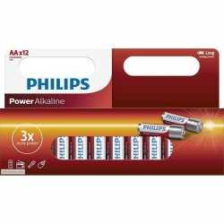 12x philips aa batterijen power alkaline