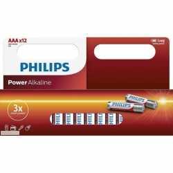12x philips aaa batterijen power alkaline