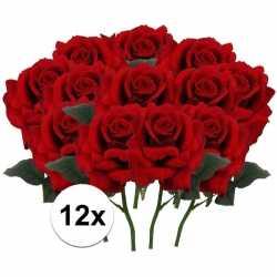 12x rode rozen deluxe kunstbloemen 31