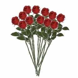 12x rode rozen kunstbloemen 45