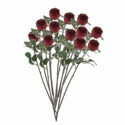 12x rode rozen kunstbloemen 69