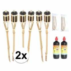 12x tuinfakkel inclusief lont olie