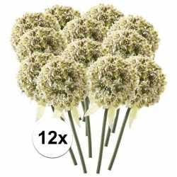 12x witte sierui kunstbloemen 70