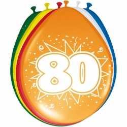 16x stuks ballonnen versiering 80 jaar