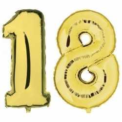 18 jaar gouden folie ballonnen 88 leeftijd/cijfer