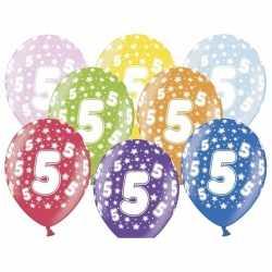 18x ballonnen 5 jaar leeftijd feestartikelen