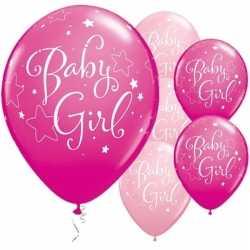 25x geboorte ballonnen meisje 28