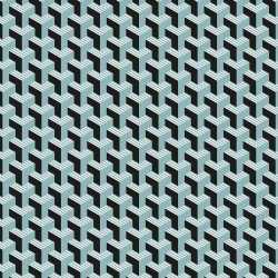 2x inpakpapier/cadeaupapier grafisch 200 bij 70 zwart/blauw