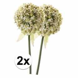 2x witte sierui kunstbloemen 70