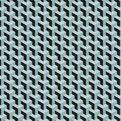 3x inpakpapier/cadeaupapier grafisch 200 bij 70 zwart/blauw