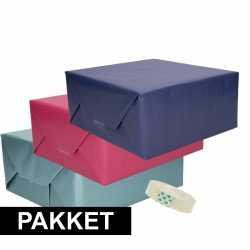 3x kraft inpakpapier rolletje plakband pakket 3