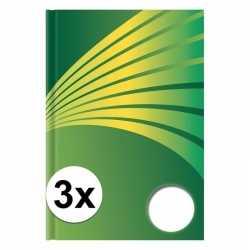 3x luxe schrift a6 formaat groene harde kaft