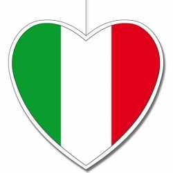 3x stuks hartvormige italie hangdecoraties van 30
