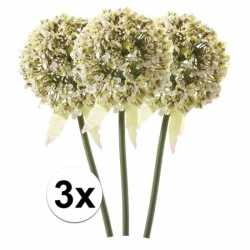 3x witte sierui kunstbloemen 70