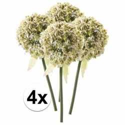4x witte sierui kunstbloemen 70