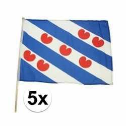 5x friesland zwaaivlaggen lichtblauw 45 bij 30