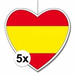 5x spanje hangdecoratie harten 28