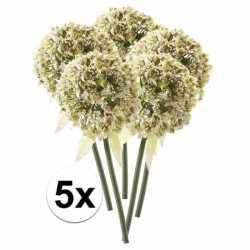 5x witte sierui kunstbloemen 70