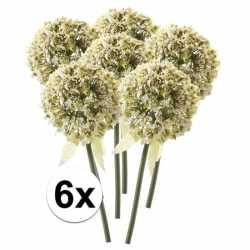 6x witte sierui kunstbloemen 70