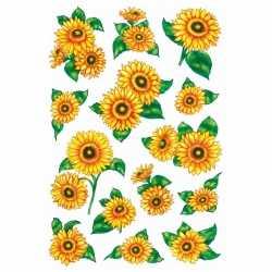 84x zonnebloemen stickers glitters