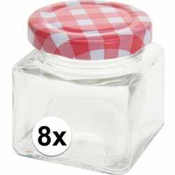 8x inmaak/weckpotten 75 ml draaideksel