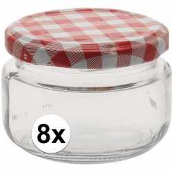 8x inmaakpot/weckpot 140 ml draaideksel